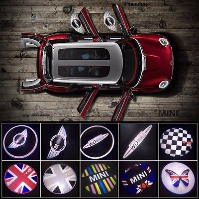 6 Styles Mini Cooper Wireless Led Door Projection Courtesy Puddle Lights