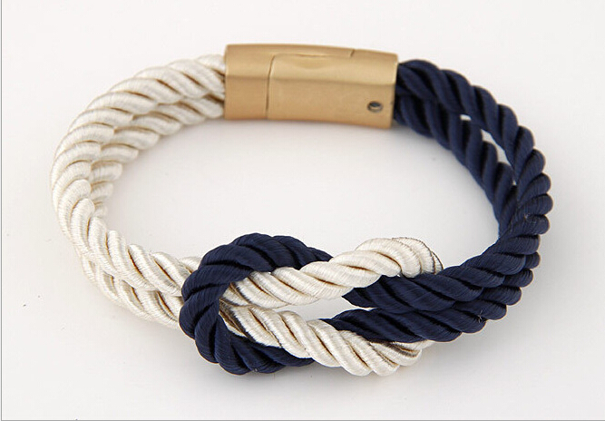 Aliexpress Charm Double Layer Gold Nautical Rope Bracelets For Women Men S Jewelry Chain Bracelet With Magnetic Clasp From Reliable