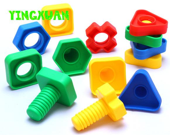 30 unids/pack Niños de Gran Tamaño de Tornillo De Plástico A Juego Juegos de Bloques de Construcción Educativa para niños Creatividad Juguetes de jardín de Infantes