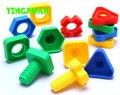 30pcs/pack Large Size Kids Plastic Screw Matching Blocks Educational Building Kits Sets for kid's Creativity Kindergarten Toys