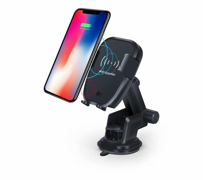 Tous Compatibles Qi Support De Voiture Chargeur Sans Fil Rapide avec capteur infrarouge D'évent support pour téléphone pour iphone x 8 8 P pour Samsung Galaxy S9