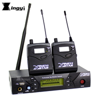 Professional Stage Studio In Ear Monitor UHF Wireless System Two Bodypack Receivers & One USB Transmitter Monitoring in Earphone