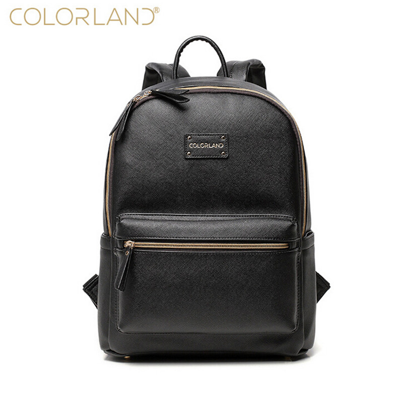Colorland Backpack Bag Baby Organizer Diaper Bags  fashion PU Leather for Mom  Mother Maternity  Large capacity Nappy nurse Bag sunveno pu leather baby bag organizer tote diaper bags mom backpack mother maternity bags diaper backpack large nappy bag