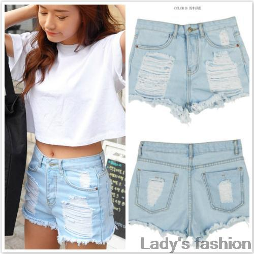 536776d437f New 2014 women shorts jeans fashion ripped vintage denim jeans ...