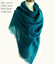 Naizaiga Inner Mongolia manufacturers 100% wool 60s solid spring autumn thin shawl WORSTED scarf  ,QYR22