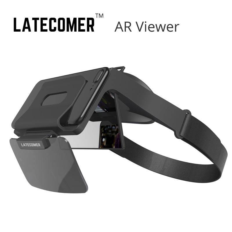 Latecomer AR visionneuse Mobile AR 3D smartphone lunettes réalité virtuelle VR casque film jeu sans pilote véhicule aérien vue de tir visionneuse