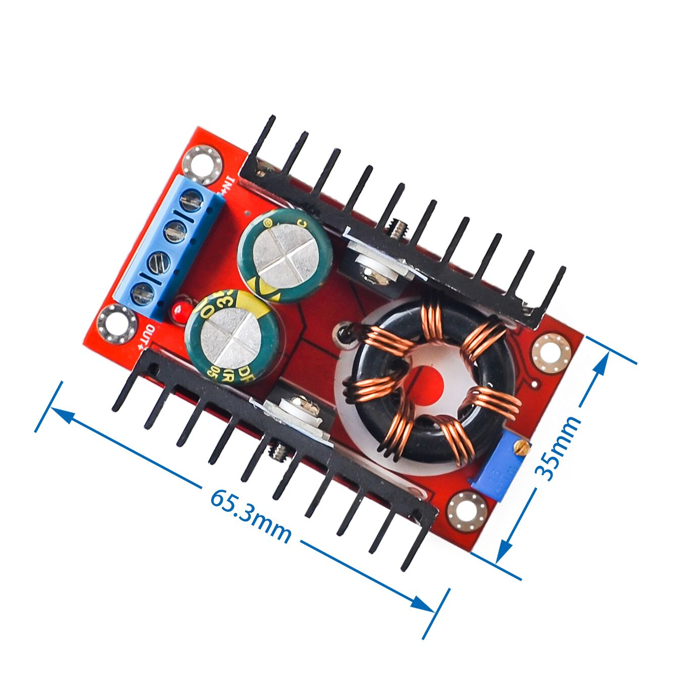 1pcs <font><b>150W</b></font> Boost Converter <font><b>DC</b></font>-<font><b>DC</b></font> 10-32V to 12-35V <font><b>Step</b></font> <font><b>Up</b></font> Voltage Charger Module Dropshipping image