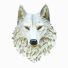 The wall hanging garden club resin crafts simulation animal home decoration decoration Wolf outdoor garden decoration garden decoration simulation animal creative home landscape decoration resin crafts raccoon
