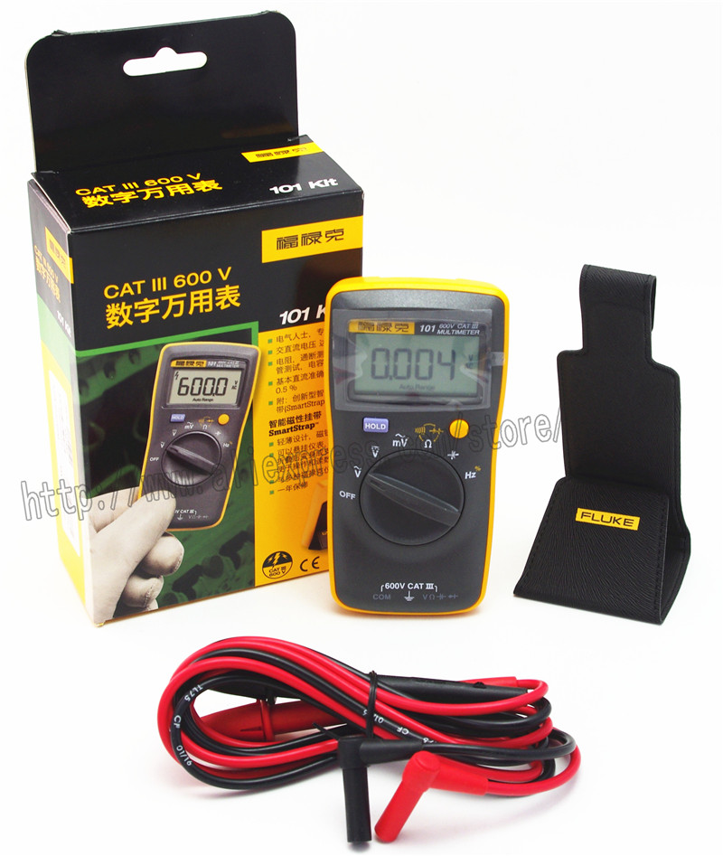 FLUKE 101 Kit Palm-sized Digital Multimeter Meter DMM F101 With Magnetic Strap