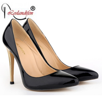 New Style Sexy Women Shoes Pointed Toe Super Gold High Heels Fashion Nightclub Shoes Woman Plus
