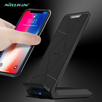 Nillkin Fast Wireless Charger Stand Qi Wireless Charging Pad for iPhone X 6 6s 7 8 Plus 10 Samsung S6 S7 Edge S8 Plus Note 8