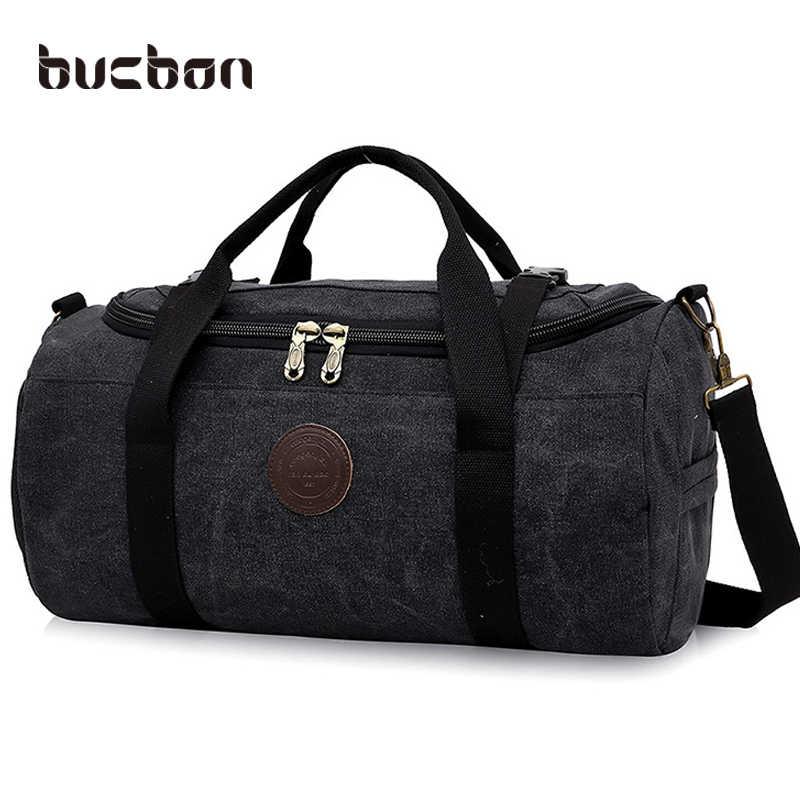 6298caef35a8 28L Large Capacity Canvas Gym Bag Men Women Portable Fitness Sports Bag  Soft Foldable Shoulder Travel