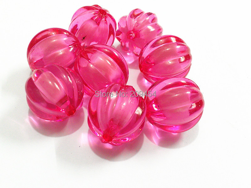 Choose Size First 12mm 16mm 20mm Hot Pink Acrylic Watermelon Beads In Beads