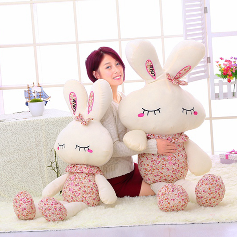 New 26cm/36cm Cute Wear Clothes Floral Rabbit Plush Toys Bunny Stuffed Dolls Kids Toys Baby Appease Girl Birthday Gifts