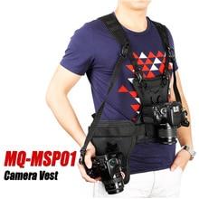 Micnova MQ MSP01 Chaleco de cámara DSLR pecho de transporte correa de pistolera de doble cara multifuncional rápida para cámara Canon Nikon Sony