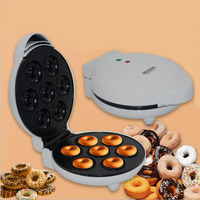 Mini Donut Making Machine Eggs Cake Baking Breakfast Waffle Electric Donut Maker EU plug Automatic Pancake Doughnut Makers