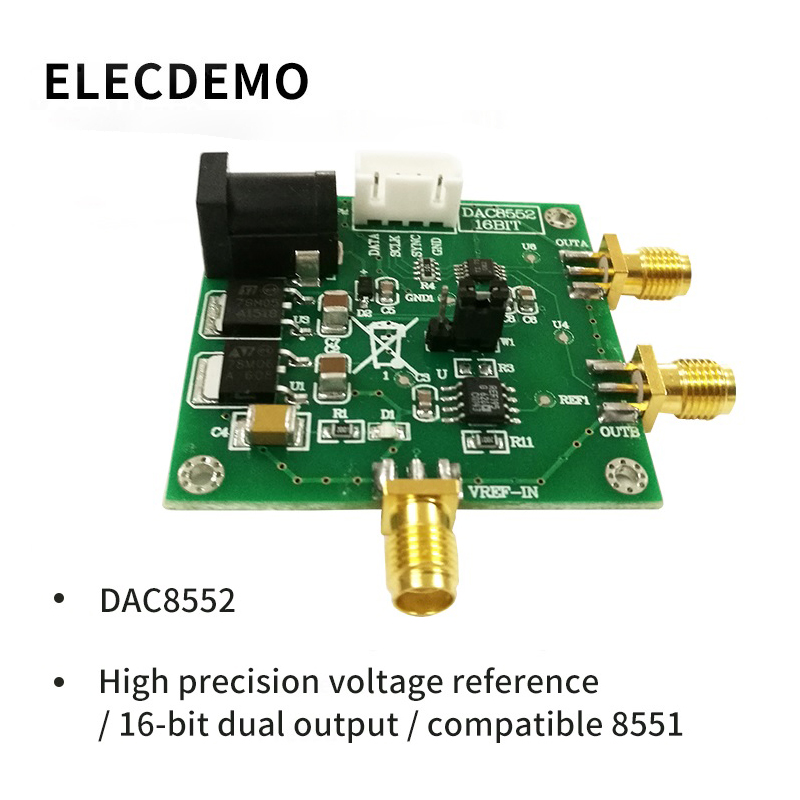 DAC8552 Module Module 16 Bit Dual Voltage Output Digital to Analog Converter DAC Precision Voltage Reference Function demo Board-in Demo Board Accessories from Computer & Office