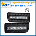 Brilho 1100 Lúmen LED Car Daytime Running Luz 12 V 5 W * 2 Cr ee Alta potência para BMW E36 M3 (91-98) Kit Luz Do Dia DRL