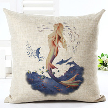 Marine Cojin Cushion Cover Linen Decorative Cushion Covers for Sofa Seat Textile Printing Throw Smiley Pillows decorative Cover 2017marine pattern cushion cover linen decorative cushion covers for sofa seat cushion cover textile printing throw pillow cover