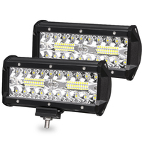 1pieces 7 inch 40 LED light 120W fog lamp headlight auxiliary lamp dimming lamp work light Car accessories