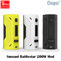 100% original smoant battlestar 200 w vw/tc tela oled mod caixa powered by dupla 18650 baterias