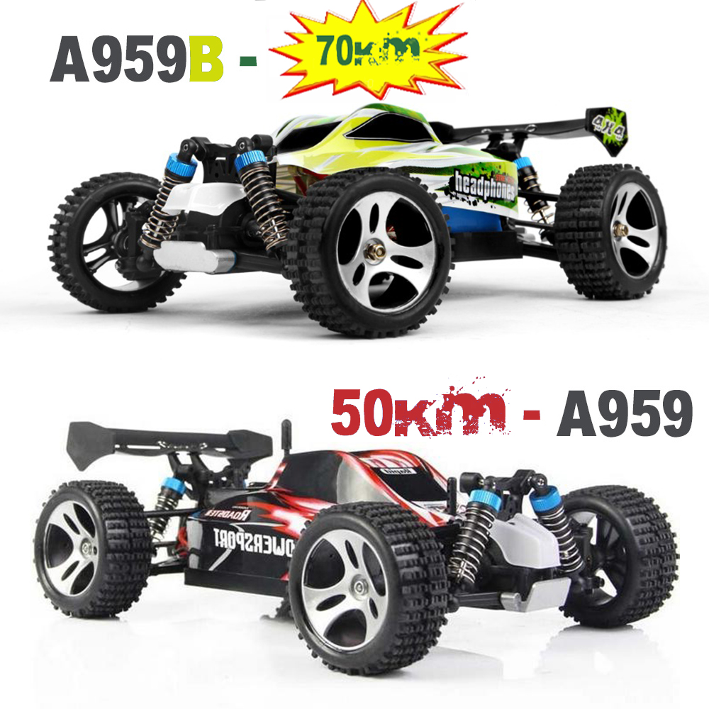 JJRC A959B RC Car Offroad Remote Control Car 540 Brushed Motor 1:18 4WD 70KM/H 2.4Ghz High Speed Racing Car - Electric RC Cars 03011 rs540 26 turn 540 motor rc car hsp 1 10 scale models brushed electric motor brush for himoto redcat remote control cars