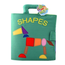Baby Infant Toys Baby Cloth Book Cartoon Animals Educational Learning Toys English Story Soft Cloth Books 1pc baby educational learning toys infant cloth book cartoon animal pattern baby soft activity crinkle cloth books 1