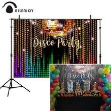 Allenjoy Disco sfondi per Photo Studio Glitter Party festeggia Shinny decorazione colorata Photocall sfondo Banner vinile