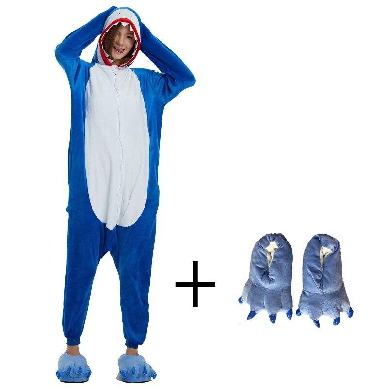 96a3ba2282 Franela de tiburón Kigurumi Animal adultos traje de mono pijamas para  mostrar los hombres las mujeres Cosplay carnaval fiesta de pijamas
