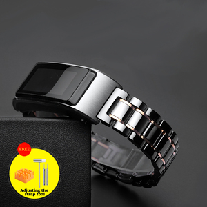 Image 4 - 18mm ceramic watch strap For Huawei TalkBand B5 / honor watch s1 Replacement Strap Quick release wrist watche band not fade