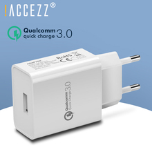!ACCEZZ 5V 3A Quick Charge 3.0 Fast USB Charger QC3.0 EU Plug Adapter For iPhone Xiaomi Samsung Huawei Mobile Phone Wall