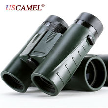 Big sale Military HD Compact Binoculars 8×32 Optics Telescope Zoom Powerful Vision Objective Lens Army Green for Hunting Sport USCAMEL
