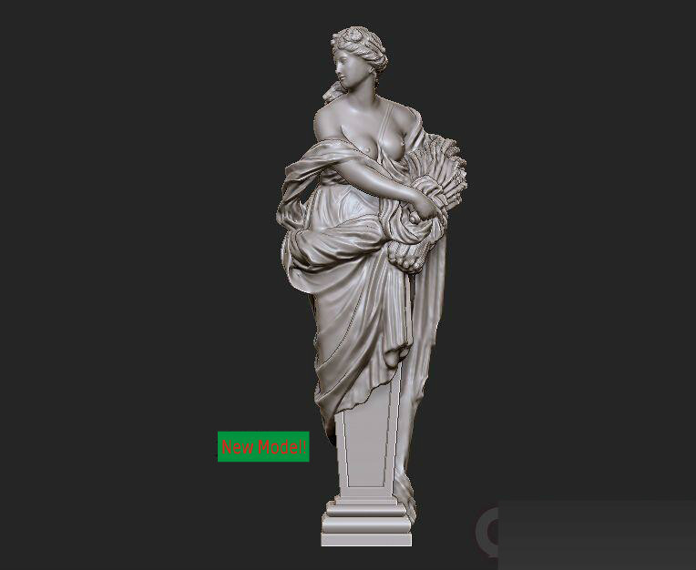 New Model 3D Model For Cnc Or 3D Printers In STL File Format Western Sculpture Model Autumn