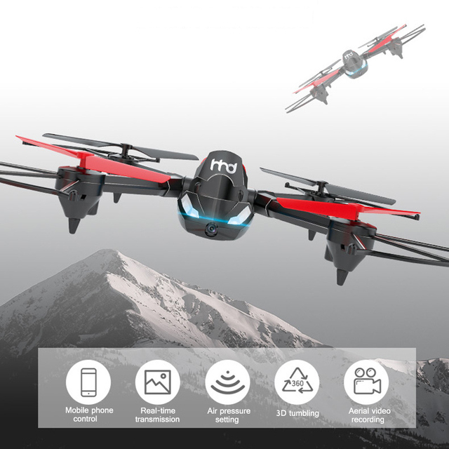 3 In 1 Bounce Car RC Tank Drone with Camera 2.4GHZ Quadcopter Toys Gifts for Kids S7JN