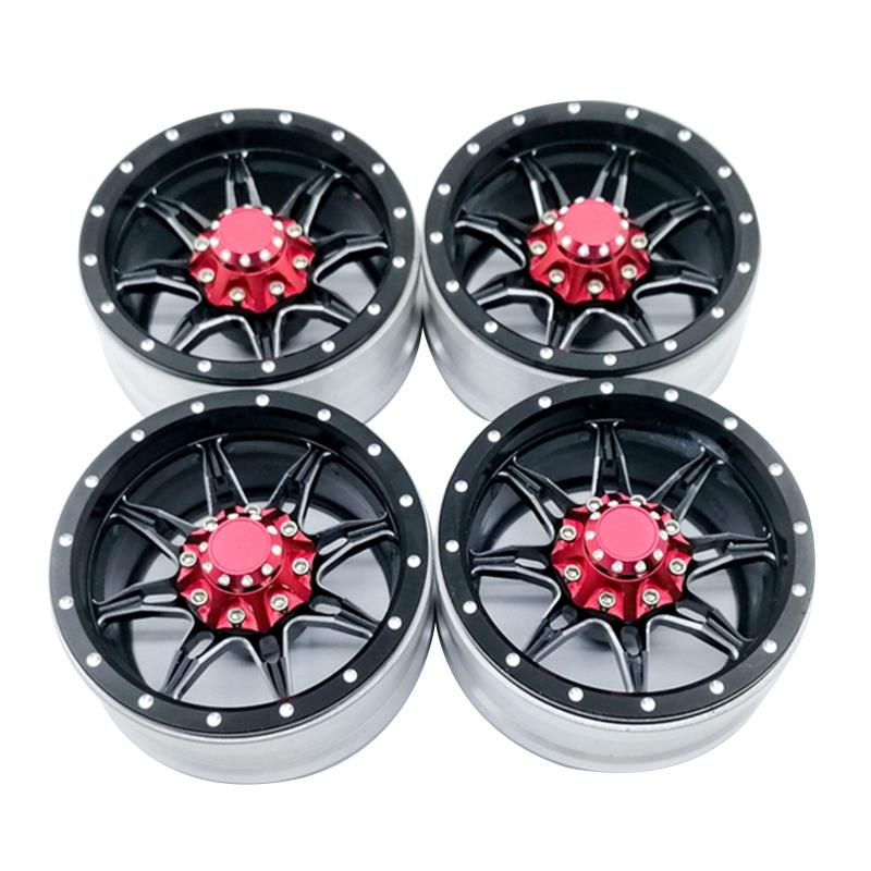 4Pcs Rc Rock Crawler Metal Wheel Rim 1.9 Inch Beadlock For 1/10 Axial Scx10 90046 Tamiya Cc01 D90 D110 Tf2 Traxxas Trx-4 S1194Pcs Rc Rock Crawler Metal Wheel Rim 1.9 Inch Beadlock For 1/10 Axial Scx10 90046 Tamiya Cc01 D90 D110 Tf2 Traxxas Trx-4 S119