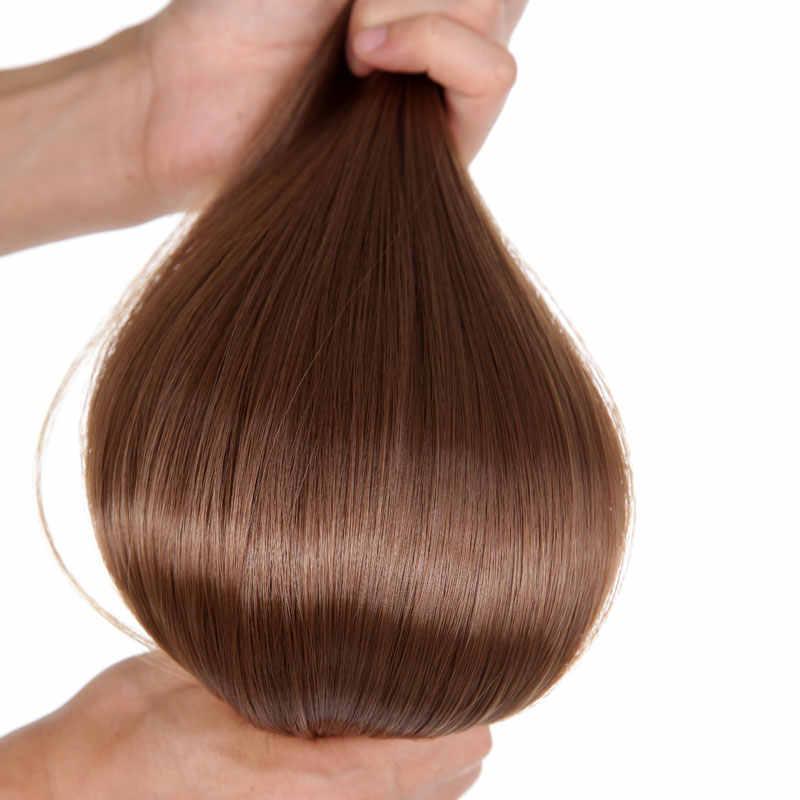 """S-noilite 24 """"8 шт./компл. длинные прямые двойные толстые 180 г Клип В Полный головной уток волосы для наращивания настоящие синтетические 18 зажимы ins"""