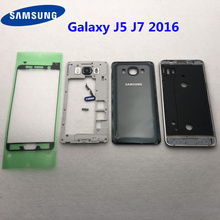 For Samsung Galaxy J5 J510 J7 J710 2016 Full Housing Case Middle Frame+Back Cover J510F J710F Button Volume Button Replacement