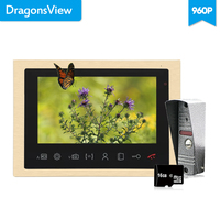Dragonsview Home Intercom 10 Inch Large Screen Video Door Phone Video Intercom System AHD 960P Motion Sensor Call Panel Camera
