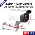 HD 2MP Cámara IP PTZ 1080 P 4X Zoom Óptico Al Aire Libre Automático Iris 2.8-12mm Lente de Rotación Pan Tilt IR 40 M CCTV de la Bala de Seguridad cámara