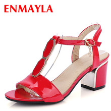 AirFour New 2016 Summer Women Sandals Size 34-43 Peep Toe High Heels Black Red White Sandals Party Wedding Elegent Women Shoes