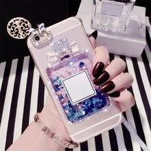 Case For Samsung J3 J5 J7  Pro J4 J6 Bling Liquid sand bottle Phone case