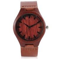 Nature Wood Wrist Watch Men Modern Bamboo Creative Sport Analog Casual Women Soft Genuine Leather Band