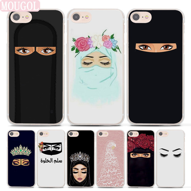 newest 53782 c7b6c US $1.91 36% OFF|Arabic Muslim Hijab Girl Islamic Gril Eyes Phone Case  Cover For Apple iPhone 7 8 Plus 6 6s Plus X XS XR XS MAX case cover-in ...
