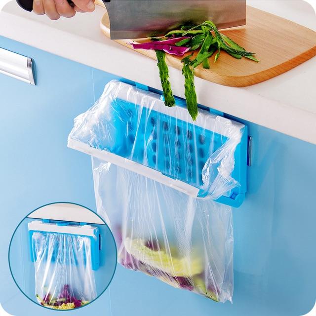 US $4.01 27% OFF|1pcs Cupboard Garbage Bag Holder Kitchen Garbage Bag Stand  Hanging Trash Bag Holder Trash Rack Waste Bin Bucket Dustbin-in Waste Bins  ...