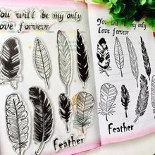 DIY Feather Letter Scrapbook