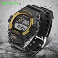 New men sports watches Top brand SANDA LED electronic wristwatch 30 meters waterproof fashion man outdoor diving digital watch