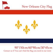Free shipping New Orleans 3x5ft Flying Hanging City Flag 90*150cm 60*90cm 30*45cm Car for Campaign Decoration