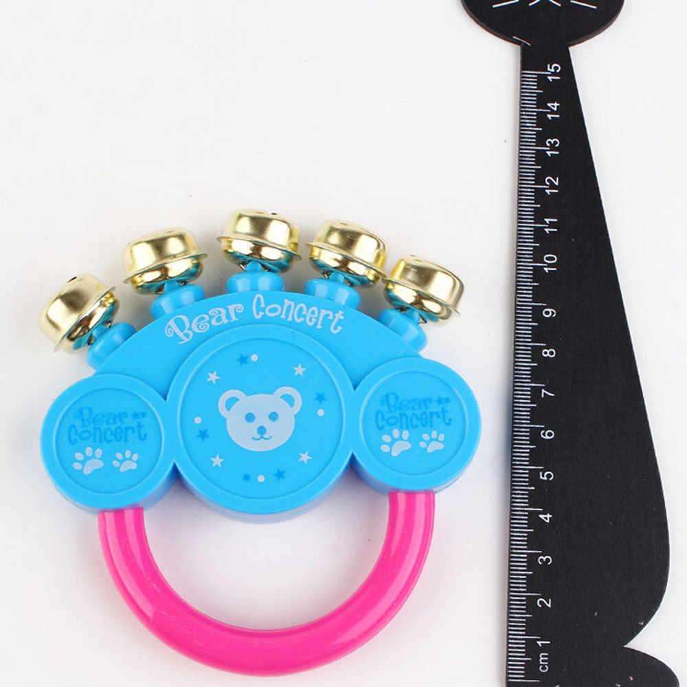 เด็กทารก Rattles ของเล่นออกแบบดนตรีมือ bell เครื่องมือ Jingle Rattle ของเล่น Primt การศึกษาโลภของเล่นสำหรับทารก