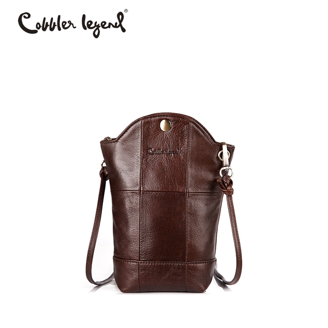 2fc6a3f3aa79 Cobbler Legend designer bag Small Bucket Phone Handbag For Women Genuine  Leather Bag Female Mini Messenger