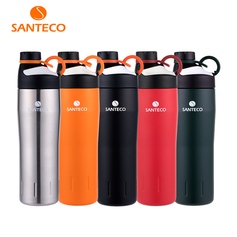 Santeco Oural Series Vacuum Insulated Sports Bottle Stainless Steel Outdoor Flask Durable BPA free Water Bottle
